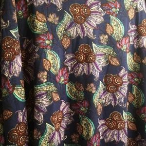 Lularoe Azure XL Floral Swing Skirt NEW